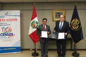 INEI y el Banco Central de Reserva del Perú firmaron Convenio de Cooperación Interinstitucional
