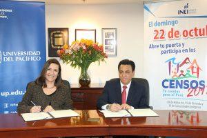 INEI y la Universidad del Pacífico unen esfuerzos por los Censos Nacionales 2017